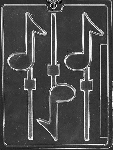 Note Lollipop - Musical Note Lollipop Chocolate Mold - J005 - Includes Melting & Chocolate Molding Instructions