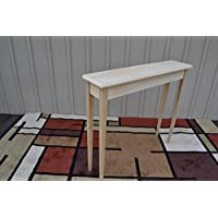 Unfinished 36 Narrow Console Sofa Foyer Beveled Edge Pine Table Tapered or Straight Block Leg