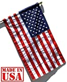 US Flag Factory - 2.5 x4  US American Flag (Pole Sleeve) (Embroidered Stars, Sewn Stripes) - Outdoor SolarMax Nylon - 100% Made in America
