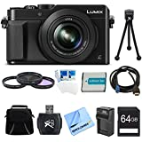 Panasonic LUMIX LX100 DMC-LX100K DMCLX100K Integrated Leica DC Lens Black Camera Bundle w/ 64GB SD Card&Reader, Bag, 43mm Filters, Battery&Charger, HDMI-Micro-HDMI Cable, Tripod&more
