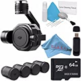 DJI Zenmuse X7 Camera and 3-Axis Gimbal CP.BX.00000028.01 + DL & DL-S Lens Set for Zenmuse X7 Camera (4 Pieces) CP.BX.00000039.01 + 64GB microSDXC + Card Reader + Fibercloth Bundle