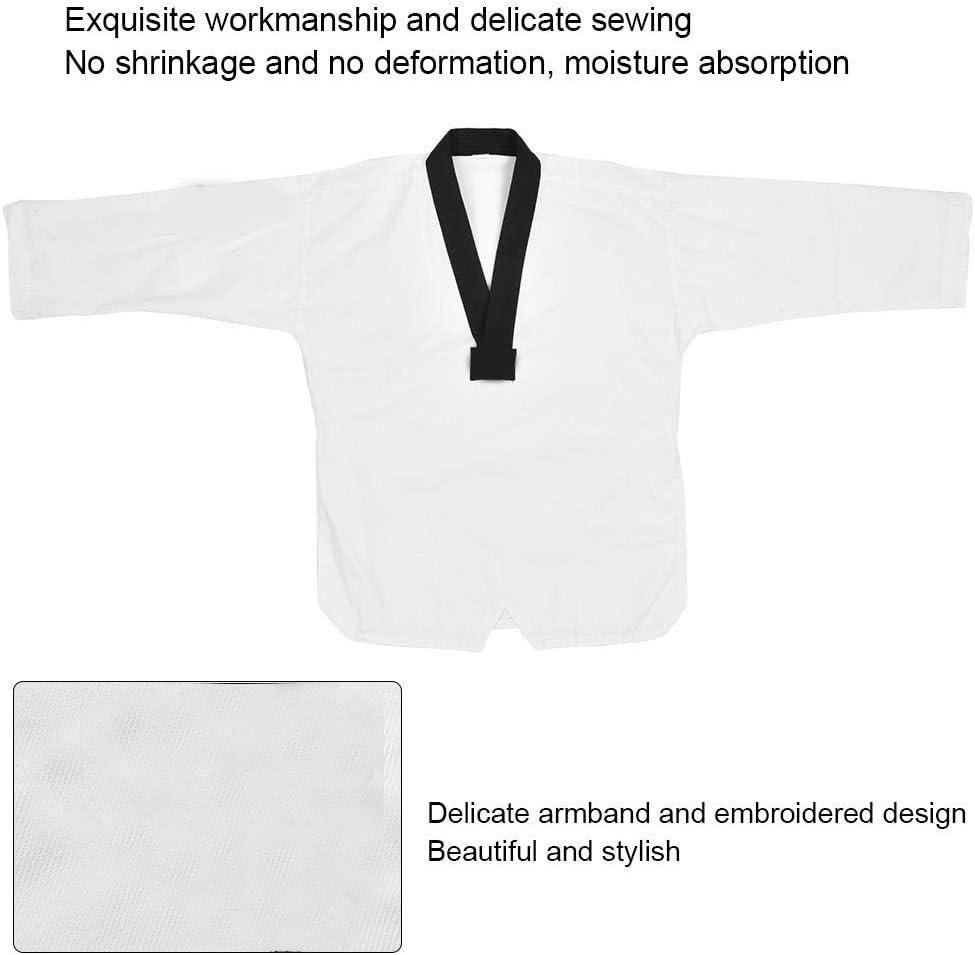 Taekwondo Uniform Anz/üge TKD Karate Kampfkunst Anzug Uniform V-Ausschnitt Kost/üm Tuch Set