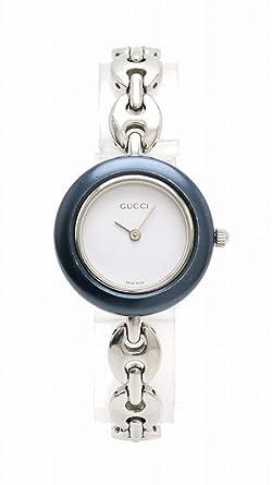 fcb344a90ca5 [グッチ] GUCCI チェンジベゼル ホワイト文字盤 SS レディース QZ クォーツ 腕時計 11/