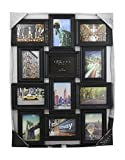 7 space 4by6 frame - Azzure Home 12 Openings Decorative Wall Hanging Collage Picture Frame - Made to Display Six 5x7 and Six 4x6 Photos, Black