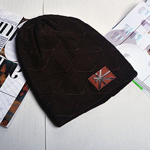 marrón Belsen oscuro de punto para Gorro hombre n4gP4qXw