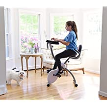 Ivation Magnetic Folding Exercise Bike/Workout Cycle With Integrated Productivity Desk