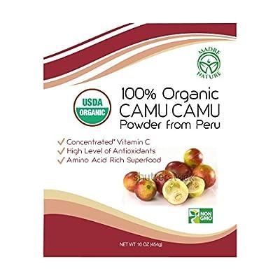 Madre Nature - 100% Peruvian Organic Raw Camu Camu Powder from High Concentrated Pulp - non-GMO - Vegan - Gluten Free