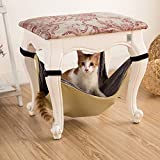 Cat Bed, Cat Window Perch Window Seat Space Saving Cat Ferret Hammock Pet Resting Seat Safety Cat Shelves Hanging Bag Chair Pet Mat Adjustable Cover Luxury Hammock for Small Animals (yellow)