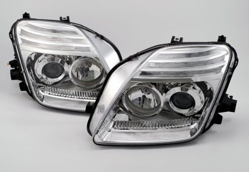 Depo M17-1103P-AS1 Honda Prelude Chrome Headlight Projector Assembly