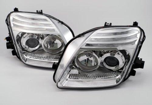 Honda Prelude Headlamp (Depo M17-1103P-AS1 Honda Prelude Chrome Headlight Projector Assembly)