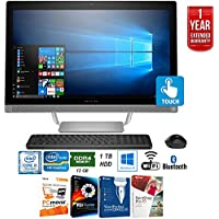 HP Pavilion 27-a230 Intel Core i5-7400T 1TB 27 All-in-1 PC Z5M04AA#ABA + Elite Suite 17 Standard Software Bundle (Corel WordPerfect, PC Mover,PDF Fusion,X9) + 1 Year Extended Warranty