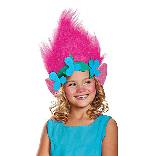 Poppy Child Trolls Headpiece, One (Box Troll Halloween Costume)