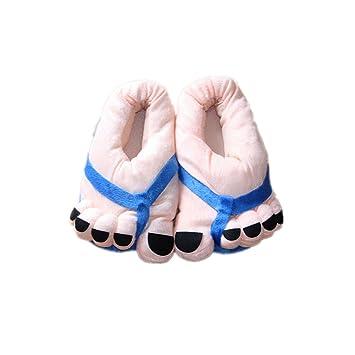 LuK aceite Big pies Zapatillas Zapatillas de dibujos animados divertido Invierno pies grandes pies calientes suave felpa zapatillas de la novedad regalo ...