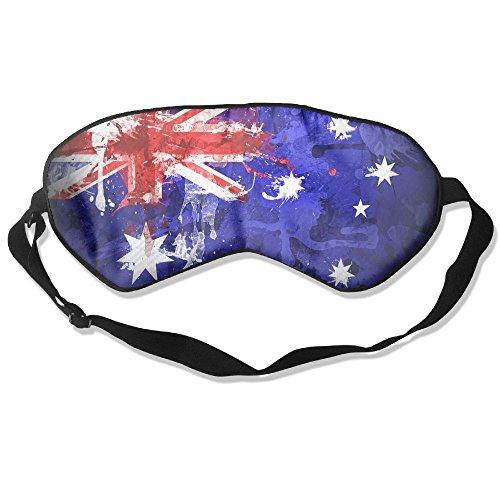 Longnankejilifeaa Sleep Eyes Masks Covers Australia Flag Art Painting Silk Sleeping Blindfold Premium Adjustable Strap Eyeshade For Travelling Shift Work Night Noon Nap Yoga