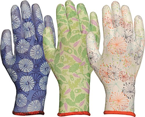 Bellingham C2603APL COOL Breathable Polyurethane Seamless Chore Gloves, Large, Assorted Floral Patterns