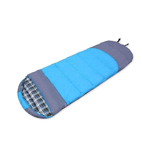 Saco de dormir LCSHAN Poliéster Grueso Acampar cálido Viaje para Adultos Impermeable Algodón (Capacidad : B, Color : Azul): Amazon.es: Hogar