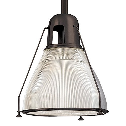 Haverhill Pendant Lighting - Hudson Valley Lighting Haverhill 1-Light Pendant - Old Bronze Finish with Clear Prismatic Glass Shade by Hudson Valley Lighting