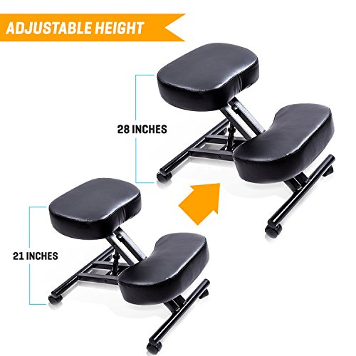 SLEEKFORM Ergonomic Kneeling Chair, Adjustable Stool For