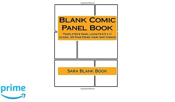 amazon com blank comic panel book templates 6 panel layouts 8 5 x