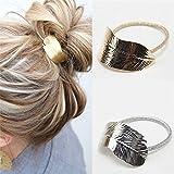 2 Pc Fashion Women Lady Leaf Hair Band Rope Headband Elastic Ponytail Holder offers