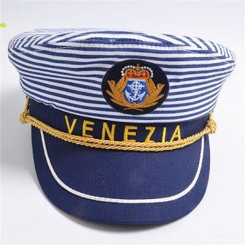 Letter Navy Cap Blue Horizontal Stripes Men and Women Captain Hat Army Stage Parenting Venezia Style Sailor Hat Kids - Costume Award Categories