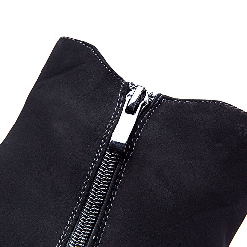 Boots Black1 Wedge Suede Fashion Cestfini for Leather Black Winter High Women Ankle qF7p7P