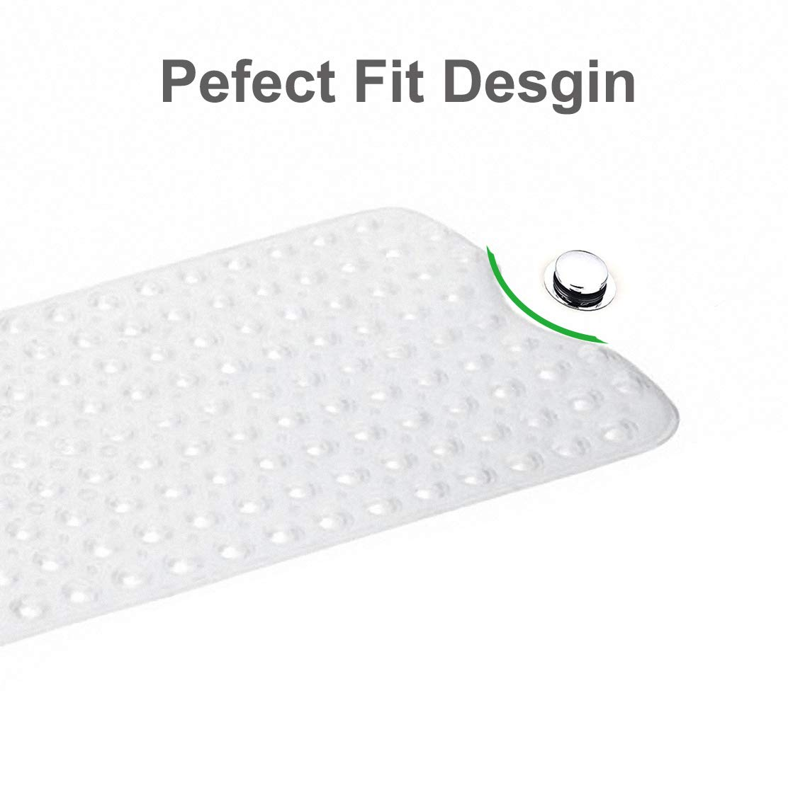 TownHouse Extra-Long(39x16), Shower, and BathTub Mat, Antibacterial ...