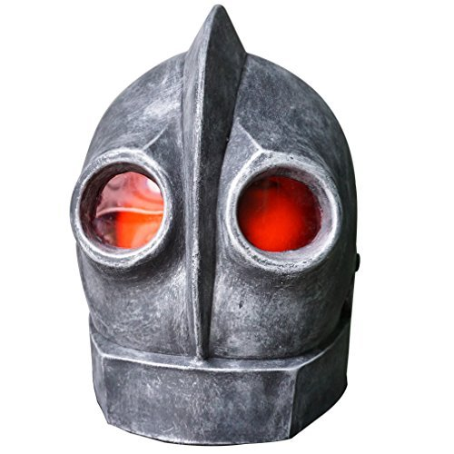 Hongzhi Craft The Iron Giant Head Mask Halloween Robot Latex Mask Cosplay Alien Costume