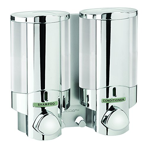 Better Living Products 76245-1 AVIVA Two Chamber Dispenser, Chrome (Soap Wall Series Mount Dispenser)