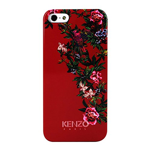 buy popular 0aa24 b74a0 Kenzo Exotic Hard Case for iPhone 5 - Red with Flowers: Amazon.co.uk ...