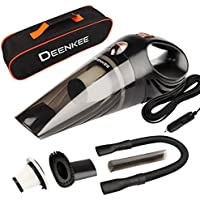 Car Vacuum,Deenkee Portable Handheld Auto Vacuum for Car Wet Dry Use,DC 12V,4.5 KPA Stronger Suction,5M Long Cord, Car Vacuum Cleaner High Power with Multiple Accessories (Orange)