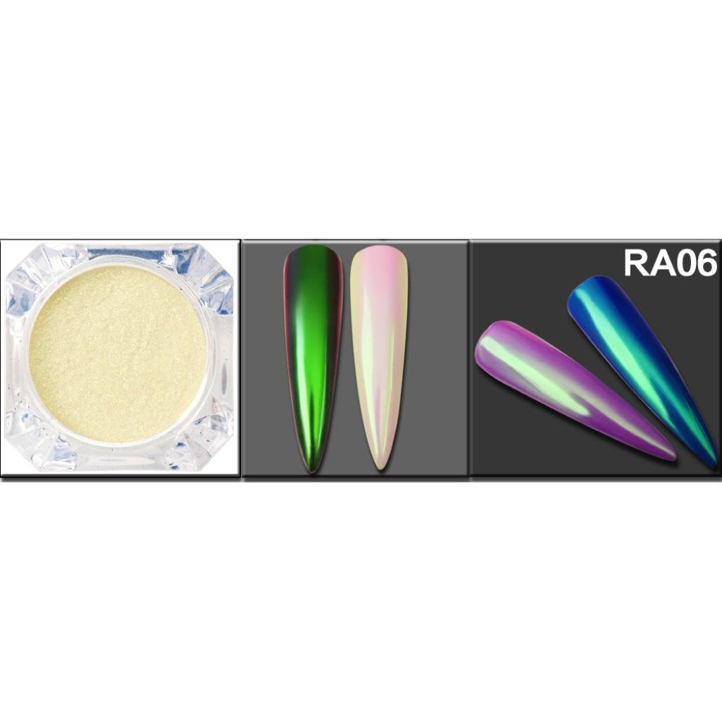Nail Art Glitters, Alonea Chrome Powder Nail Art Chrome Pigment Mermaid Powder Dust Fairy Dust Manicure (RA06)