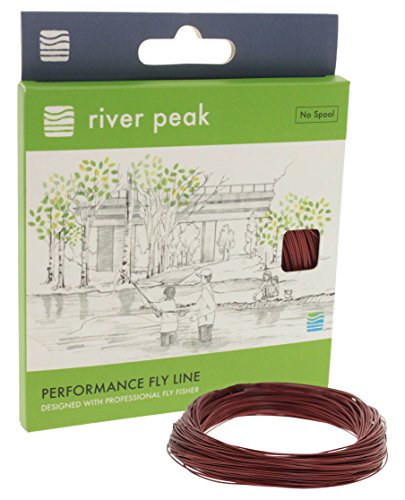 Cheap river peak FLY LINE WF 5 S #5 Weight Forward Sinking 100ft(30.5m) (Brown)