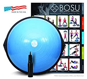BOSU Balance Trainer, 65cm Blue, With Pump, Chart & 6 DVD's