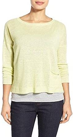Eileen Fisher Bateau Neck Box-Top FLMCO Size 3X