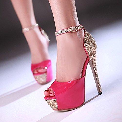 talons imperméables pour à Chaussures de femmes boucles d'argent belles hauts avec des Zhznvx sandales 7UHqBd