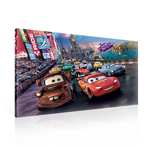 Disney Cars Photo - Ready to Hang Canvas Wall Art - Disney Cars Lightning McQueen Mater Starting Line - XXL - 39