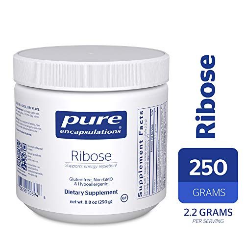 Pure Encapsulations - Ribose - Hypoallergenic Supplement with Rapid Energy Repletion for Intense Exercise* - 250 Grams