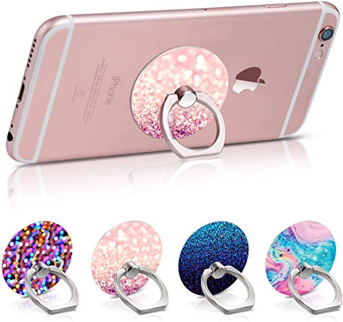 Phone Ring, 4Pack Phone Stand Grip Cell Phone Ring Holder Stand Kickstand Phone Holder Finger for Cell Phone Case…