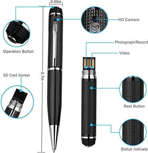 Hidden Camera Pen – Mini Spy Hidden Camera, Spy Cam with Small Camera – Mini Hidden Camera