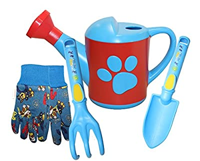 MidWest Quality Gloves Nickelodeon Paw Patrol Girls Kids Garden Pack (Jersey Glove, Plastic Bucket, Trowel, Cultivator), PWP16P10, Toddler, Multicolored