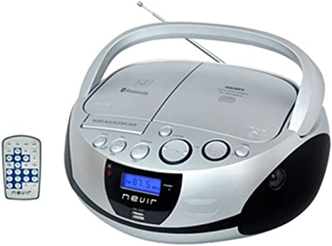 Nevir NVR-480U - Radio CD MP3 portátil con Bluetooth, color plata ...