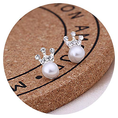 - Pearl Stud Earrings For Women Simple Geometric Animal Crystal Piercing Earring,21