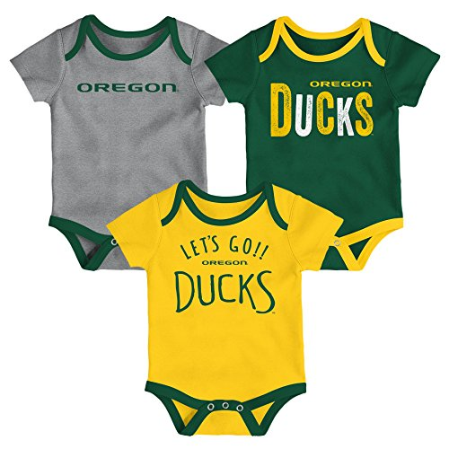 NCAA Oregon Ducks Newborn & Infant Little Tailgater Bodysuit, 12 Months, Dark -