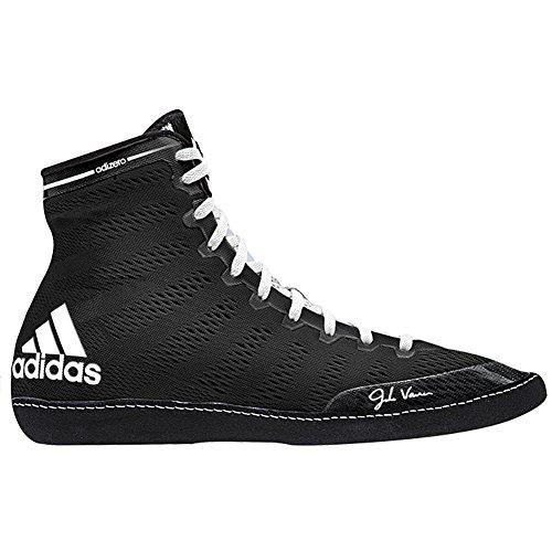 adidas Men's Adizero Wrestling XIV Wrestling Shoes, Black/White/White, 6.5 M US