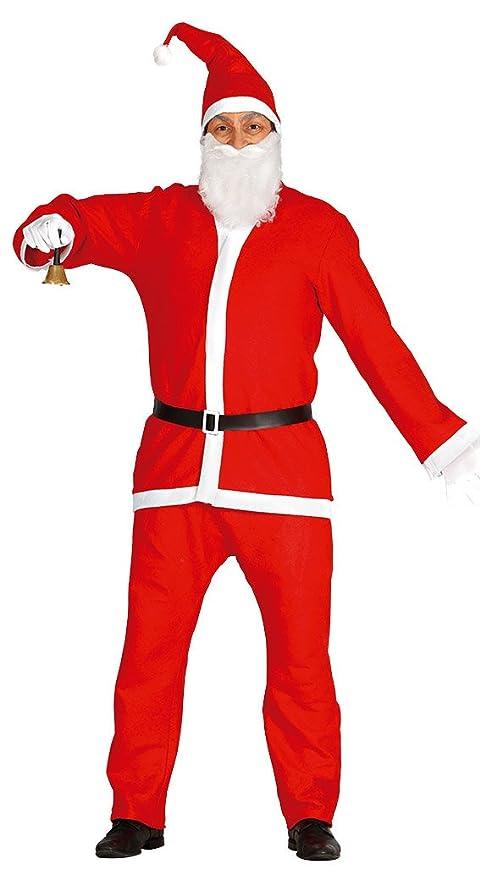 Guirca- Disfraz Papá Noel adulto, Color rojo, talla L (42692.0)