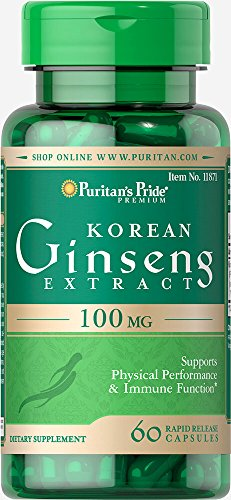 Puritan's Pride Korean Ginseng Standardized 100 mg-60 Capsules ()