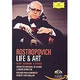 HERBERT VON KARAJAN - ROSTROPOVICH:LIFE & ART-DV