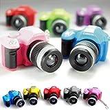 Leegoal LOCOMO Cute Mini Digital Single Lens Reflex DSLR Camera Style LED Flash Light Torch Shutter Sound Keychain