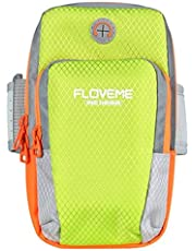 FLOVEME Armband for iPhone 7 6 8 Plus X Universal Sport Running Bag for Samsung Galaxy S9 Mobile Phone Arm Band Holder Bag - أخضر
